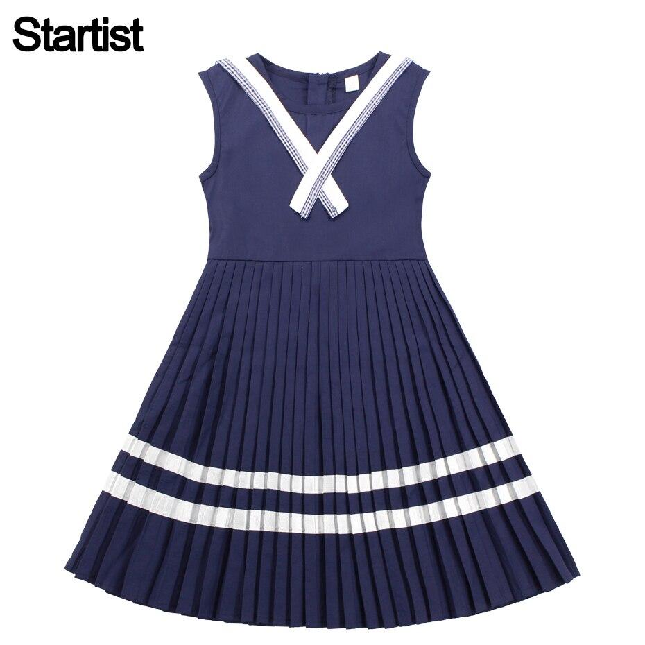 7f267c39f Chica Collar de marinero vestido Vestidos para niños grandes vestido ...
