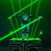 Зеленый 100 мВт ручной лазерный меч для дискотеки клубный лазер человек сценическое шоу двуглавый широкий луч двойная лазерная ручка
