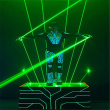 Green 100mW Hand-Held Laser Sword For Disco Club Man Stage Show Double-Headed Wide Beam Double Pen