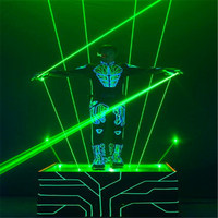 Green 100mW Hand Held Laser Sword For Disco Club Laser Man Stage Show Double Headed Wide Beam Double Laser Pen