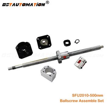 SFU2010 ball screw 500mm Ballnut Housing FK15 FF15 Bearing support block 8mm Motor Shaft coupling for CNC router