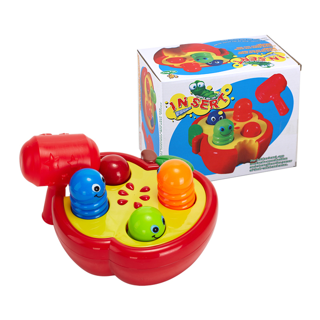 Children  Early Learning Educational Toys  Knocks on Animal Head Baby Toys Cute Insect Whack a Mole Develop Respond ability