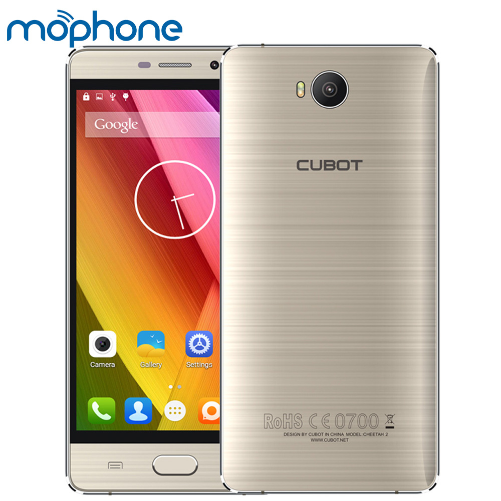 """bilder für CUBOT Cheetah 2 Smartphone 4G Android 6.0 MTK6753 Octa-core 5,5 """"IPS Bildschirm 3 GB + 32 GB 8MP 13MP Vordere Fingerabdruck Handy"""