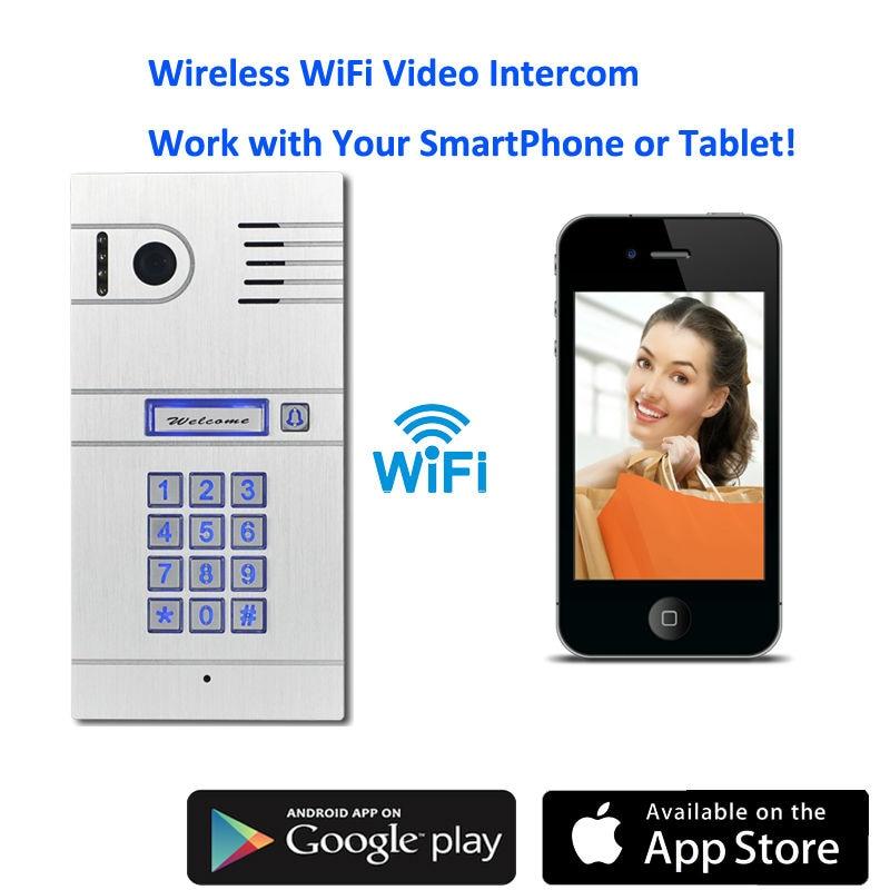 WiFi Wireless Video Door Phone System Wireless Control IP Camera Video Intercom Remote Control Smart Doorbell via Smartphones