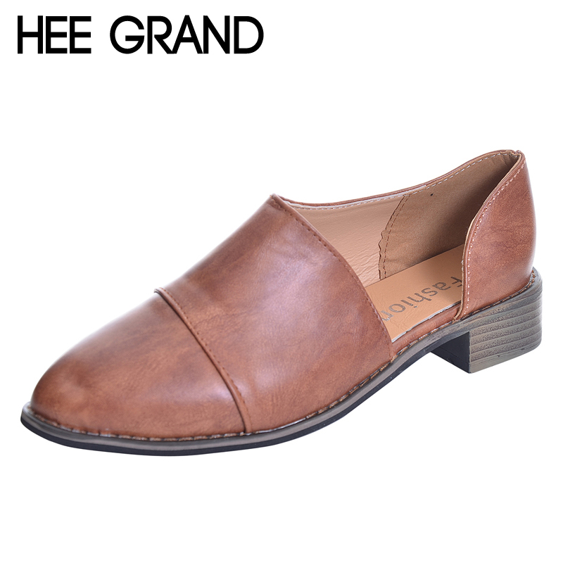 HEE GRAND 2018 New Loafers Neutral Pumps Casual Fisherman Shoes Woman Slip On Comfort Pointed Toe Women Shoes Size 36-43 XWD6239 hee grand 2017 new fisherman shoes woman spring silver loafers casual flats lace up creepers platform women shoes xwd5625