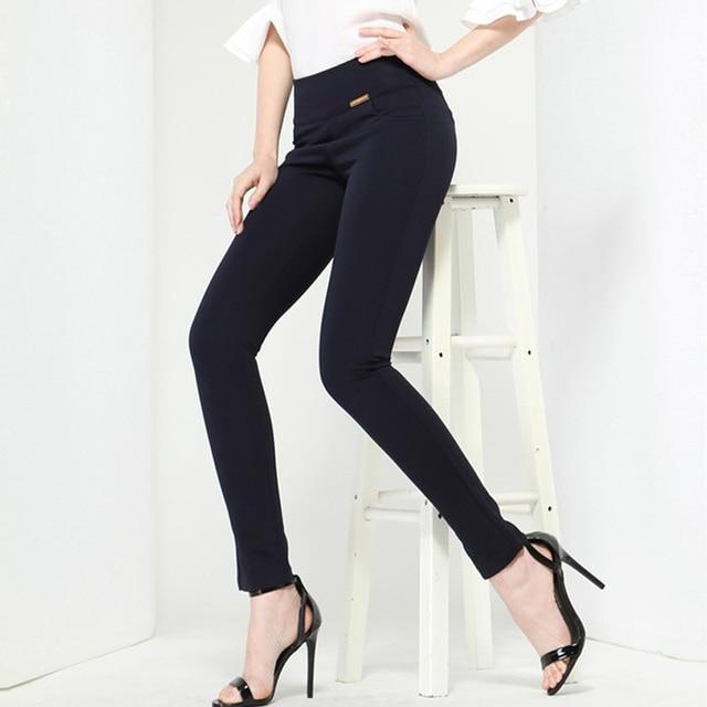 Free shipping high Waist Strtch OL Pants women Skinny slim trousers ladies leggings pencil pants Work Wear Plus Size S-XXXXL