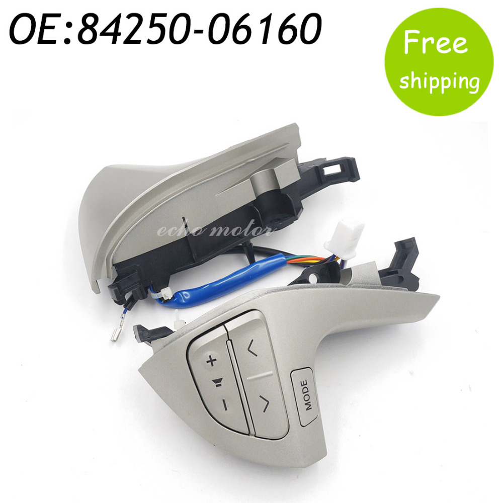 New 84250-06160 8425006160 Steering Wheel Switch Controls Switch Assy, Steering Pad For Toyota Camry oem 84250 60160 b0 good quality car steering wheel switch controller for toyota prado