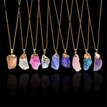 HuaTang Trendy Alloy Multicolour Natural Stone Chain Necklac