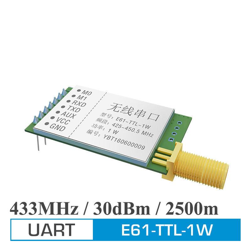 ФОТО 2pcs Ebyte High speed E61-TTL-1W UART 1W 433MHz RF Wireless Transceiver Module with antenna
