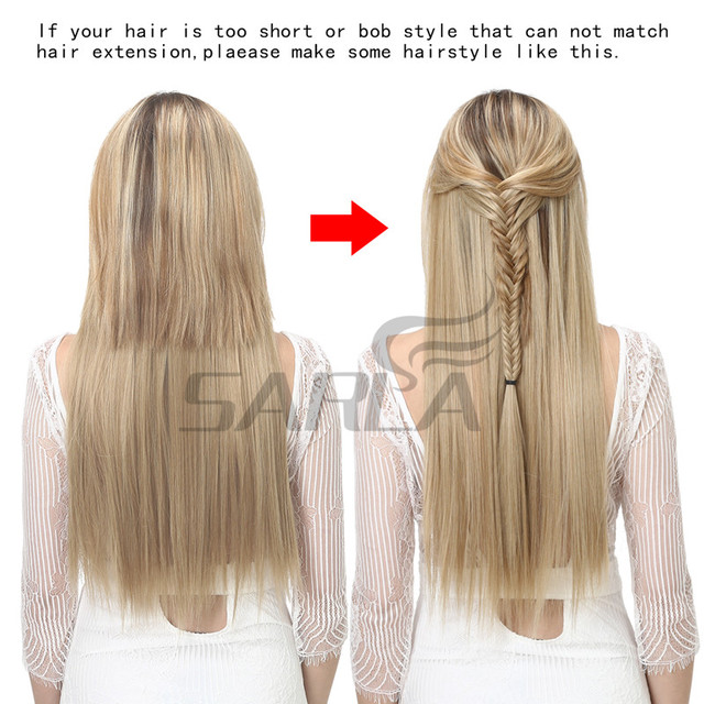 Women's 24in Straight Hair Extensions 5