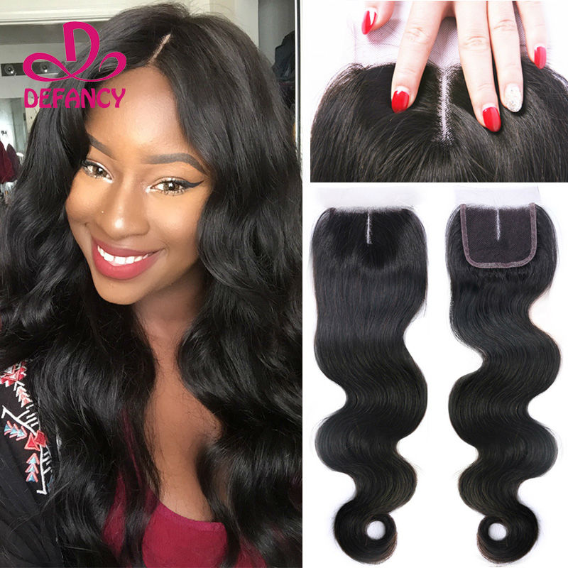 Malaysian Body Wave Closure Human Hair Closure Side Middle Three