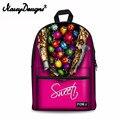 Бесшумный дизайн  милый торт  карамельный женский рюкзак  парусиновые рюкзаки с принтом  школьная сумка для девочек-подростков  Mochila Feminina  18 ...