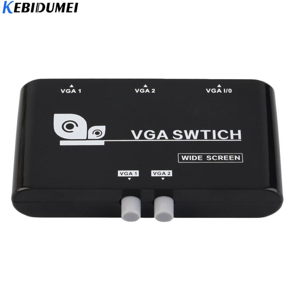 Computer & Büro Zielsetzung Kebidumei Neue Original 2 In 1 Heraus Vga/svga Manuelle Sharing Selector Switch Box Switcher Für Lcd Pc Hohe Qualität Gute QualitäT
