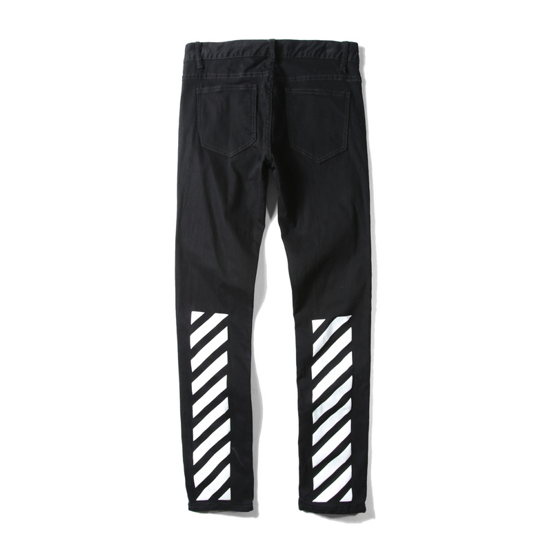Popular Off White Jeans Black-Buy Cheap Off White Jeans Black lots ...