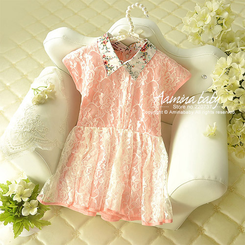 Aamina Retro Lace Baby Girls Dresses Summer 2016 New Baby Boutique Clothing Sale For Pieces