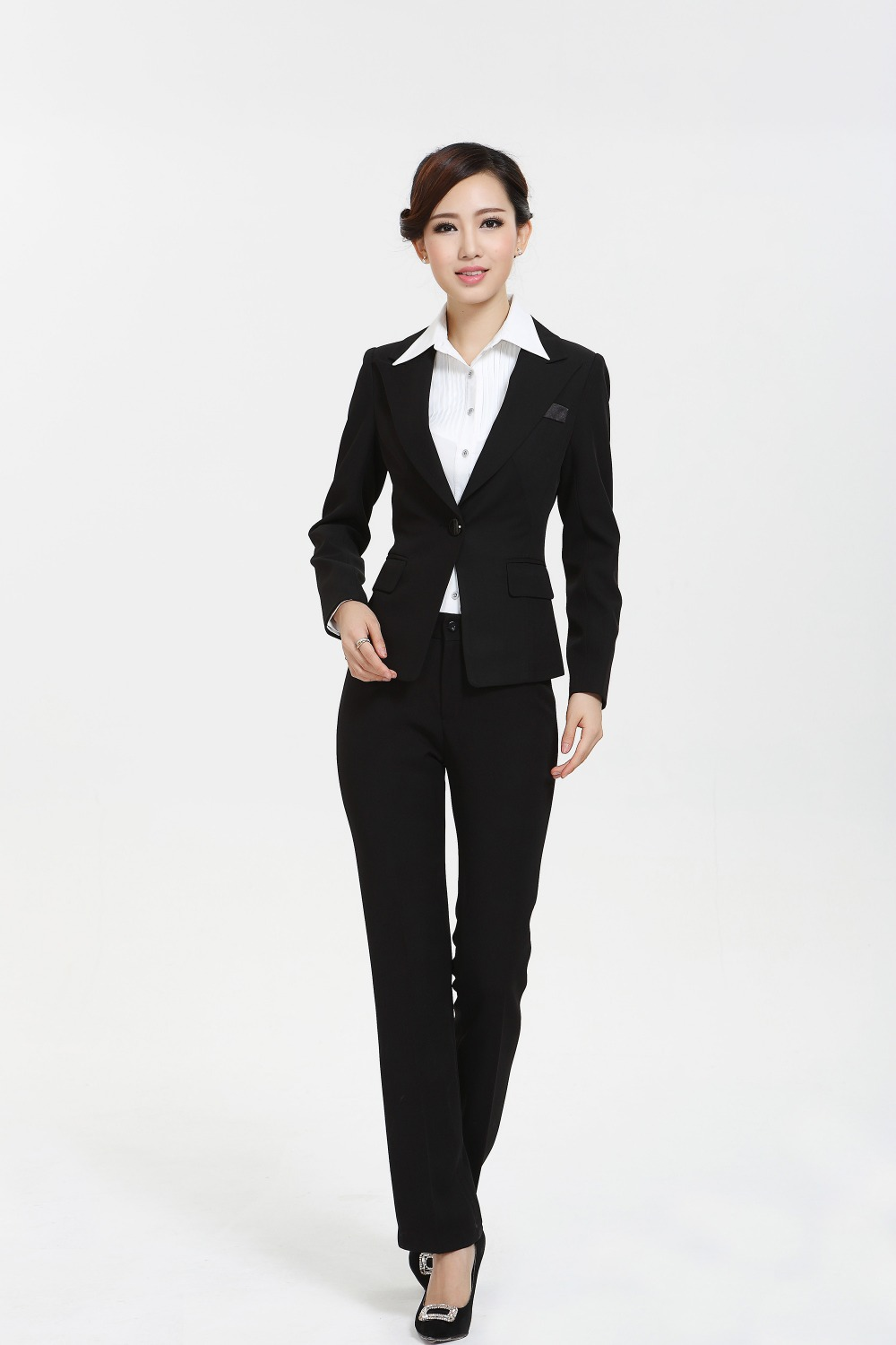 aliexpress com buy new 2015 fall winter professional business aliexpress com buy new 2015 fall winter professional business formal pantsuit ladies suits pant and jacket sets uniforms beautician set plus size from