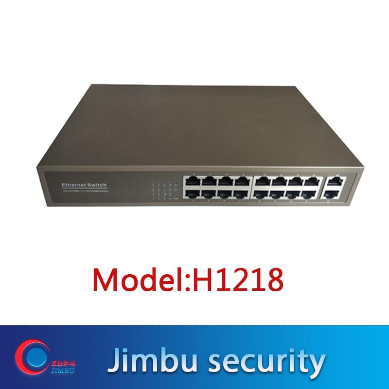 PoE Switch ONV H1218 16*10/100Mbps Auto-sensing(Auto MDI/MDIX) RJ45 Ports + 2*10/100/1000M RJ45 Ports