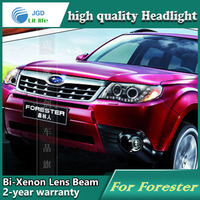 High Quality Car Styling Case For Forester 2009 2012 Headlights LED Headlight DRL Lens Double Beam