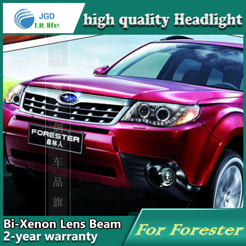 high quality Car Styling case for Subaru Forester 2009-2012 Headlights LED Headlight DRL Lens Double Beam HID Xenon