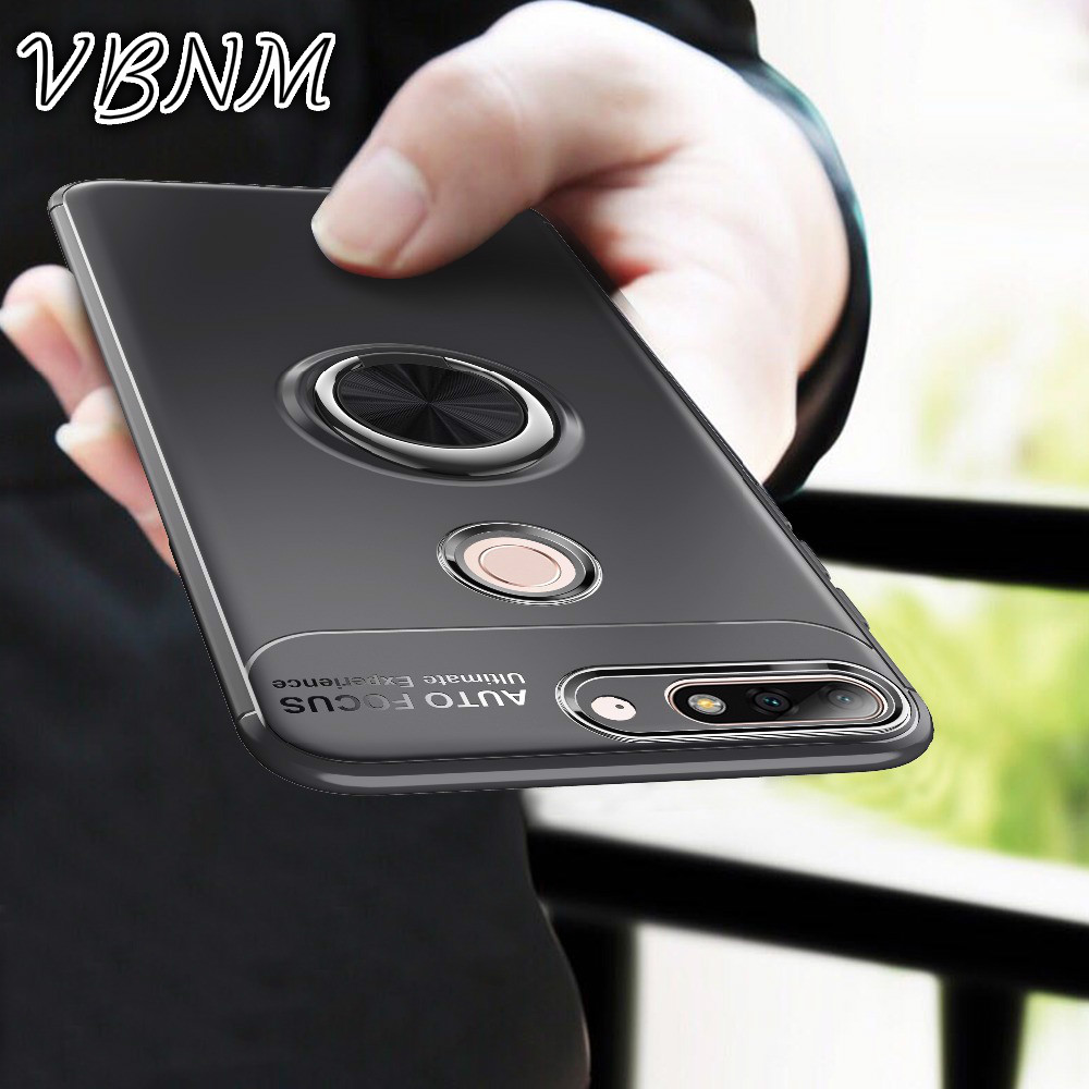 VBNM Luxury Cover for Huawei Y9 2018 Cases for Huawei Y7 Prime Pro 2018 Case Nova 2 Lite for Honor 7C Cover Rotation Ring Capa