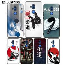 For Huawei Honor Mate 7C 7A 8 8X 9 9N 10 20 Nova 3 3e 3i  Pro Lite Black Silicon Phone Case Japan Judo Style for huawei honor mate 7c 7a 8 8x 9 9n 10 20 nova 3 3e 3i pro lite black silicon phone case adventure time style