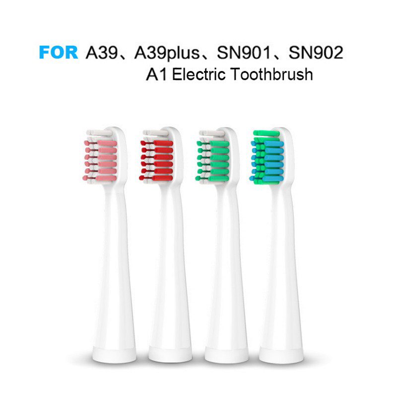 20PCS Replacement Electric Toothbrush Heads For Lansung A1 A39 A39plus SN901 SN902 Brush Heads Soft Bristles With Cover 2pcs philips sonicare replacement e series electric toothbrush head with cap