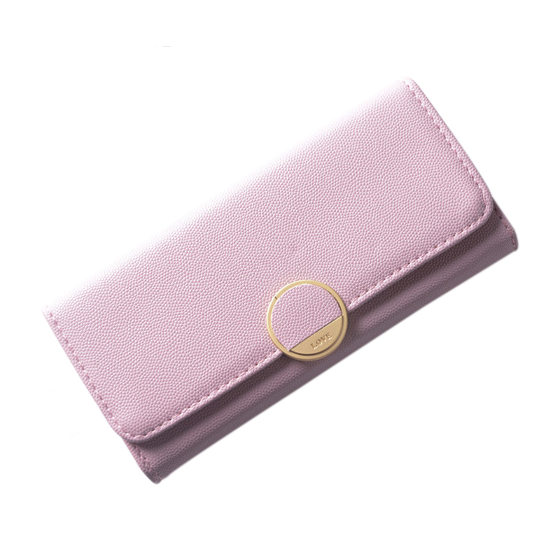 Women Wallet Leather Card Coin Holder Money Clip Long Phone Clutch 2017 Summer Casual Three Fold Luxury Brand Photo Female Purse