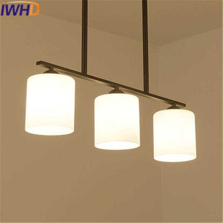 IWHD 3Heads Led Pendant Lamp Moddern Fashion Glass Hanging Lights Creative Iron Hanglamp Dining Room Kitchen Luminaire Lustre iwhd led pendant light modern creative glass bedroom hanging lamp dining room suspension luminaire home lighting fixtures lustre