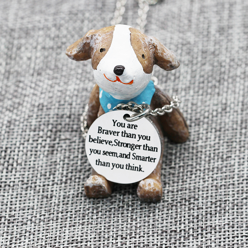 XIAOJINGLING Stainless Steel Pendant Necklaces Charm Long Necklace Birthday Gift Believe Yourself Trendy Women Men Accessories In From