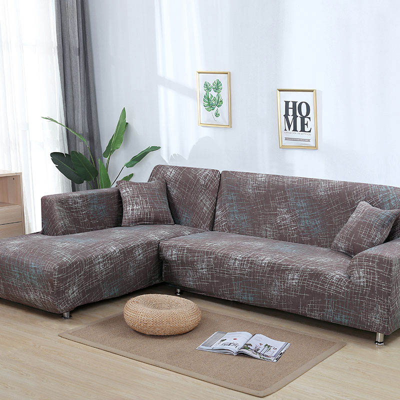 1 peça/2 peças padrão geométrico sofá capa para l em forma de sofá secional capa sofá toalha cojines decorativos para sofá