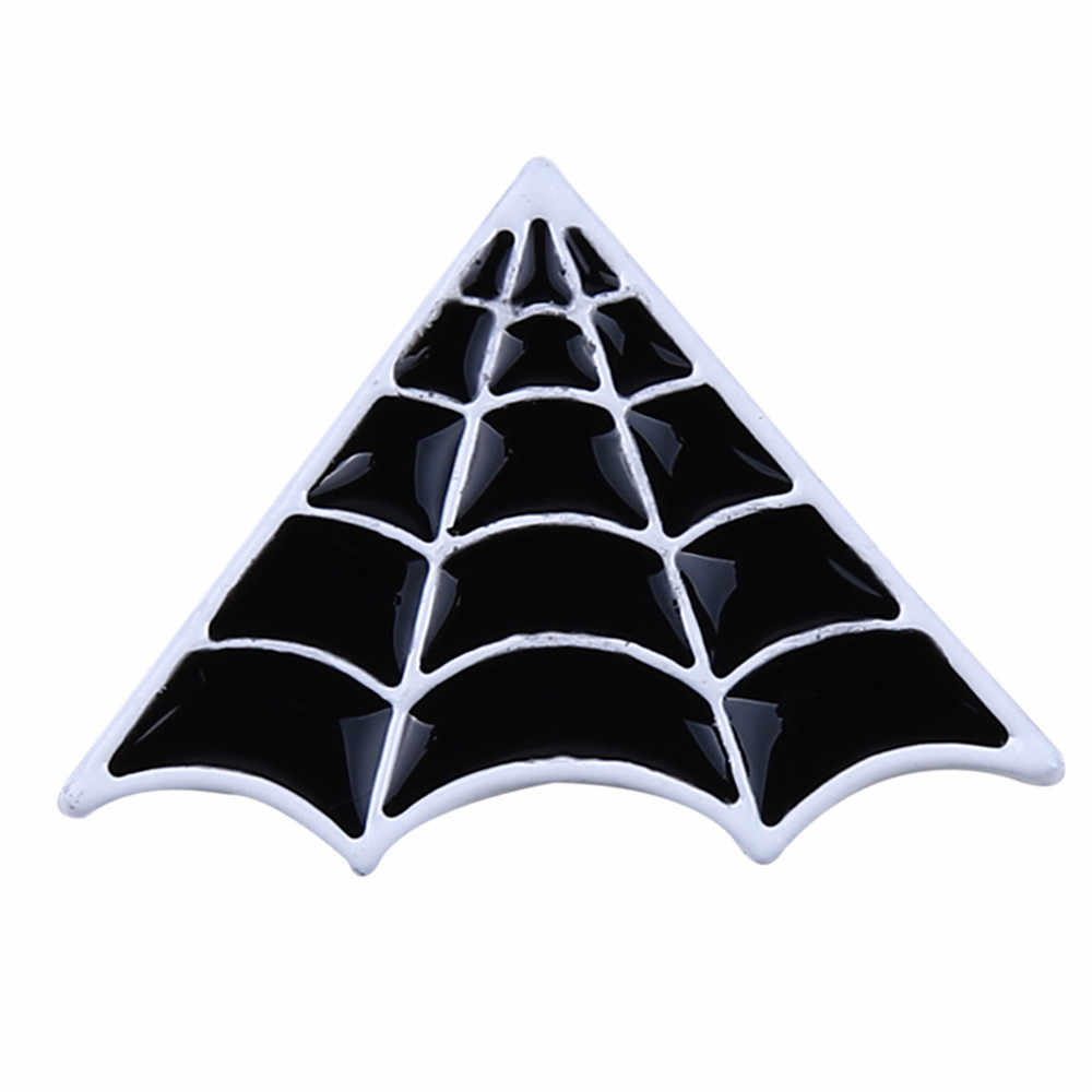 Ellenmar שחור סיכת פאנק סגנון Creative מיני עכביש אינטרנט תג סיכות פשוט חולצה צווארון בגדים וזר פרחים אביזרים