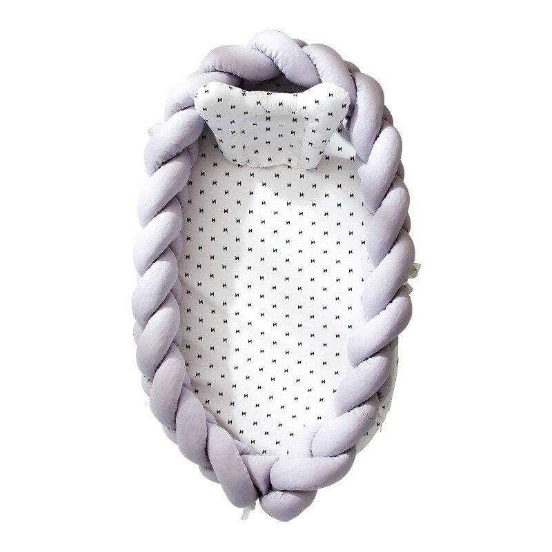 Nouveau lit de couchage amovible en coton tissé pour bébé bébé bébé nid lit berceau Portable infantile enfants berceau en coton