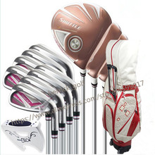 цена New womens Golf clubs Maruman SHUTTLE driver+fairway wood+Hybrid+iron+putter+Bag Golf complete set of clubs Graphite