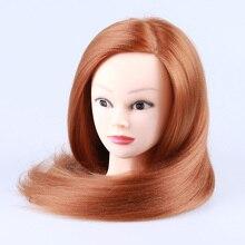 23inch Hairdresser Mannequin Head High Temperature Fiber Training for Salon Practice, Hairdressing Dolls