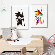 Black and White Dragon Ball A4 Canvas Art Painting Print Poster (12 styles)