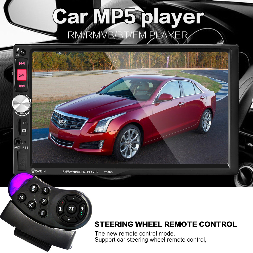 NEW 2 Din Car Video Player 7 HD Touch Screen 1080P Bluetooth Stereo font b Radio