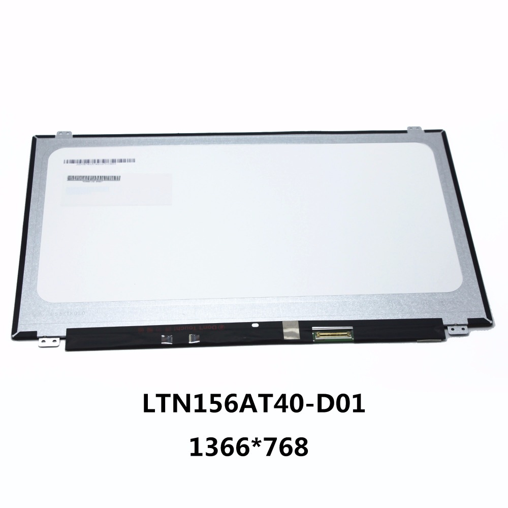 Original New 15.6LAPTOP LCD SCREEN Digitizer Panel Touch Display Matrix Replacement Repair Part 40 pins LTN156AT40-D01 1366*768 new 14 0 slim lcd screen display panel laptop matrix replacement n140hce en1 30 pins edp ips high gamut wuxga fhd 1920x1080
