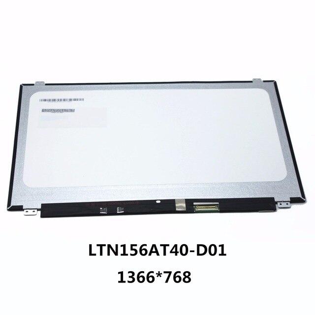 "Original New 15.6""LAPTOP LCD SCREEN Digitizer Panel Touch Display Matrix Replacement Repair Part 40 pins LTN156AT40-D01 1366*768"
