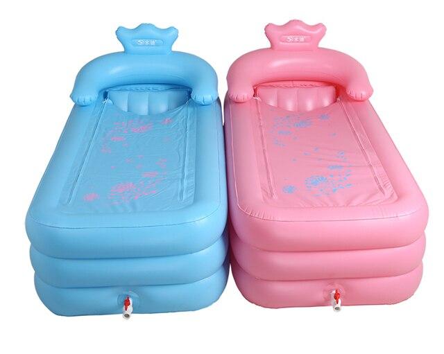 Nuovo arrivo Portatile vasca da bagno gonfiabile vasca S schienale ...