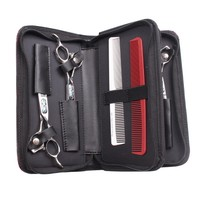 1Pc Split Leather Salon Holster Styling Tools Clips Comb Bag Hairdressing Barber Hair Scissor Clipper Case bag