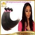Em venda brasileiro Virgin cabelo liso 3 Pcs preto Natural virgem brasileiros pacotes tecer cabelo liso, Barato cabelo humano Weave