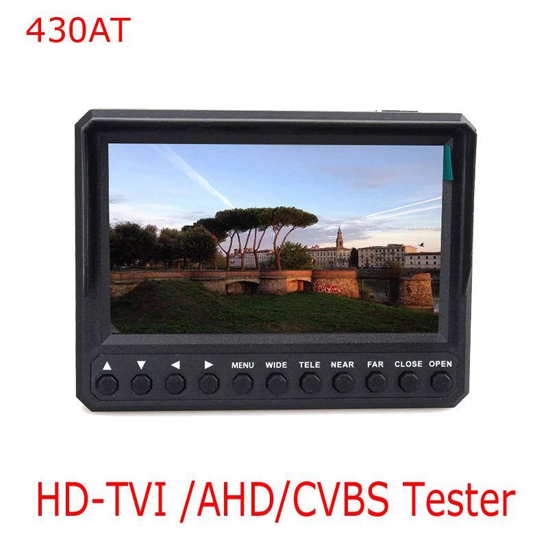 Kaycube NEW Wristband 4.3 Inch LCD CVBS TVI Camera Tester CCTV Tester Monitor HD TVI 1080P AHD Analog Camera Test 12V Output