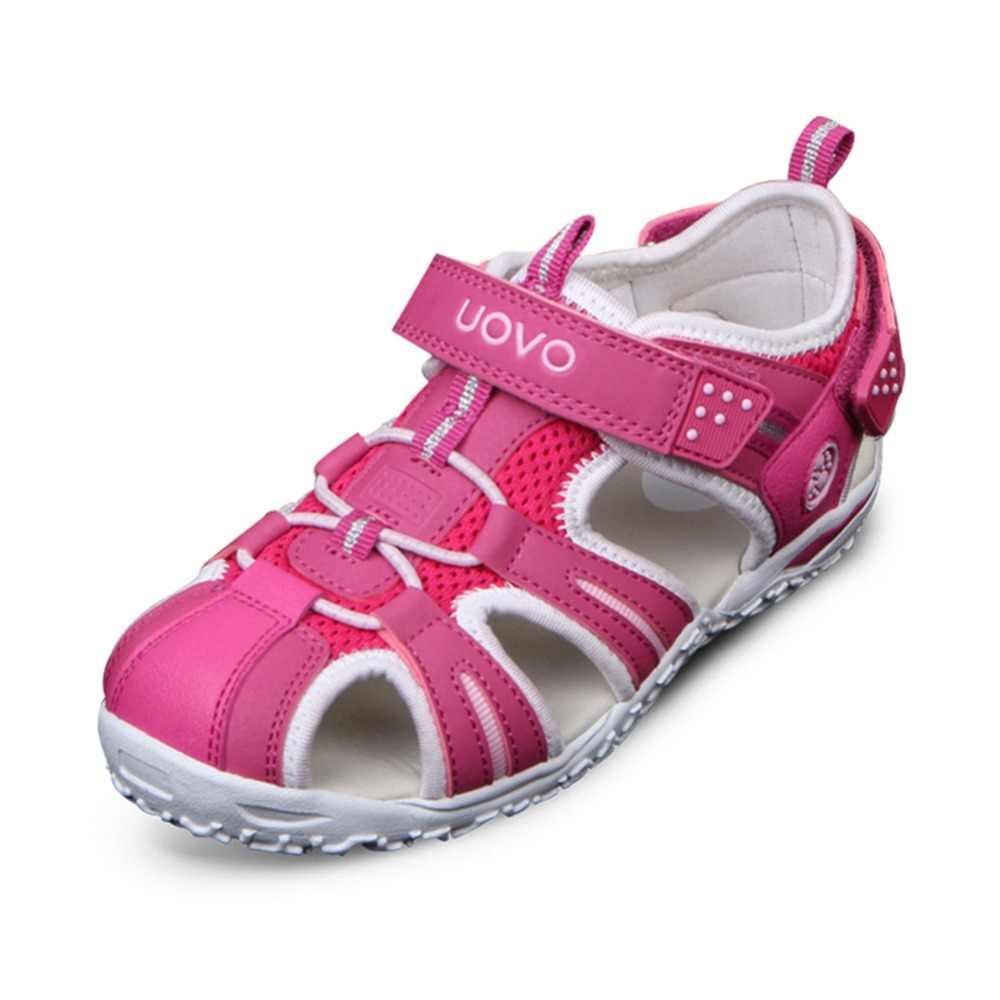 ماركة UOVO صنادل شاطئ صيفية 2020 للأطفال صنادل أطفال بمقدمة مغلقة أحذية للأطفال مصمم على الموضة للأولاد والبنات 24 #-38 #