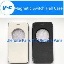 For Ulefone Paris X Window View Case High Quality New Magnetic Switch Hall Leather Case For Ulefone Paris/Ulefone Paris Lite