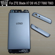 Battery Back Cover Power volume on off button For ZTE Blade X7 D6 V6 Z7 T660 T663 Housing Door Case Without back camera glass original for zte blade z7 x7 v6 d6 t660 t663 lcd display touch screen digitizer assembly replacement parts black white tools