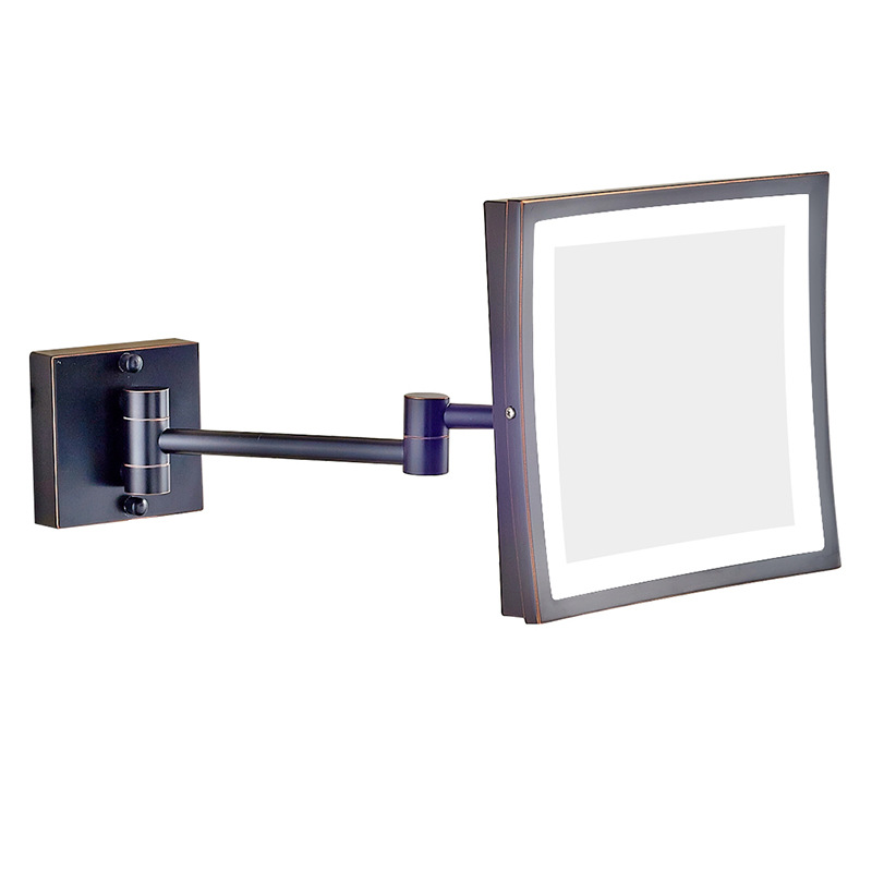 Gurun Led 8 Inch Dual Arm Extend Bathroom Mirror With Led Light 3 X Magnifying Bathroom