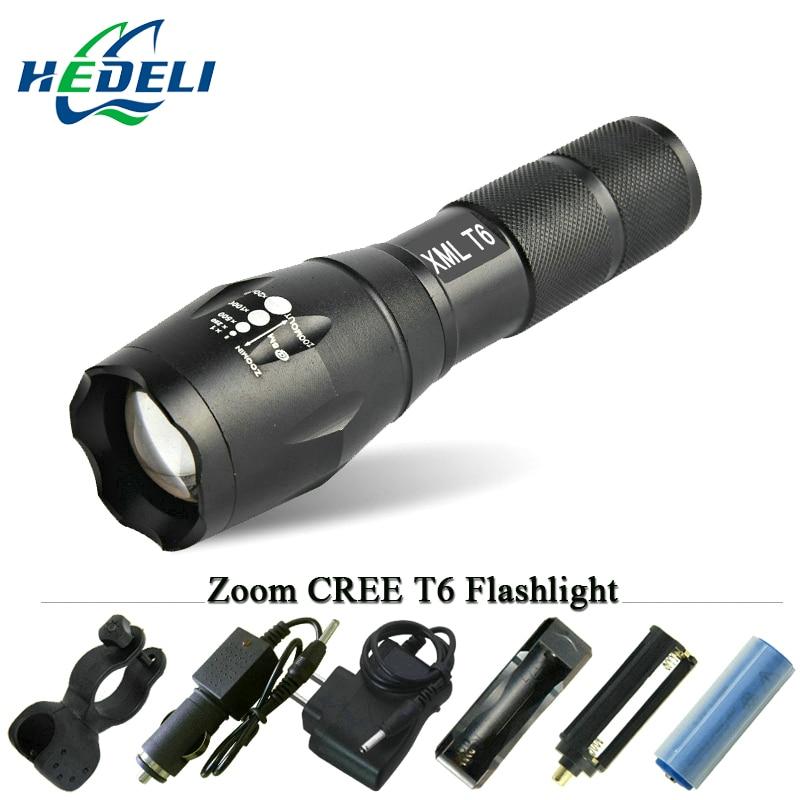 Светодиодный фонарик CREE xm-l T6 Факел Lanterna масштабируемой Водонепроницаемый стороны света 3000 люмен AAA или 18650 аккумуляторная батарея