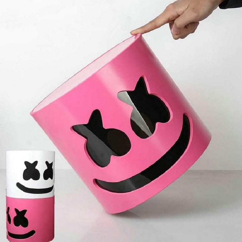 Casque de couleur rose Marshmello DJ Marshmello masque accessoires de Concert futurs Bars de basse Prop Marshmello accessoires de Fans de musique sans LED