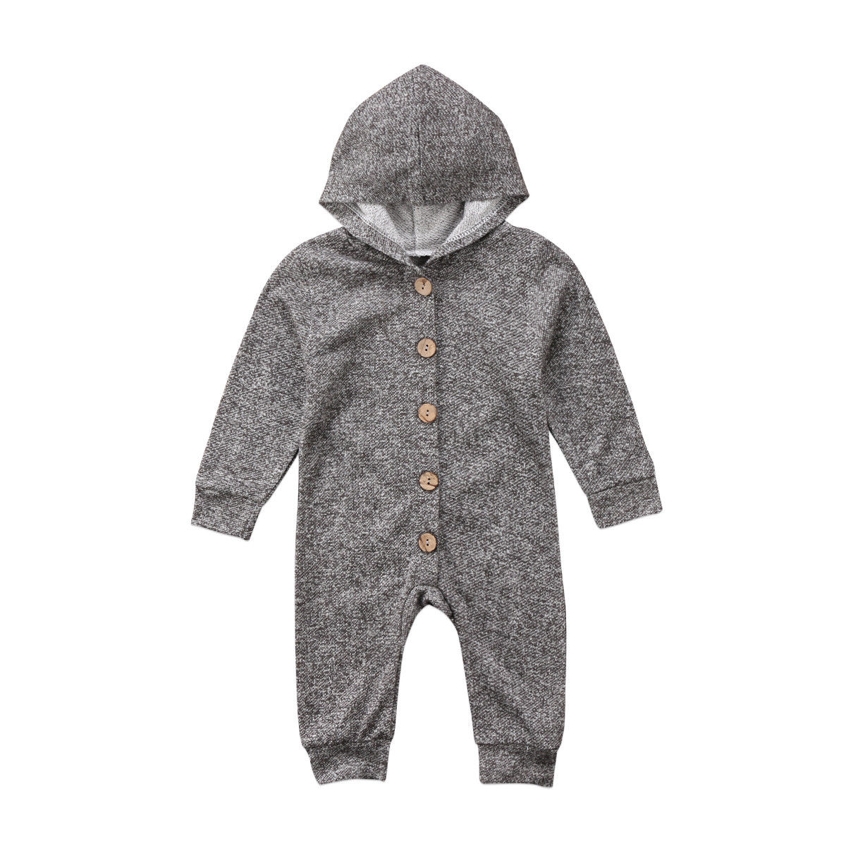 Pudcoco Toddler Baby Boys Girls Onepiece Long Sleeve Hooded Romper Outfits 0-24 Months Helen115