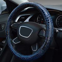 Stereo Crocodile Grain Design Massage Steering Wheel Cover Personality Fashion Steering Wheel Covers Car Styling